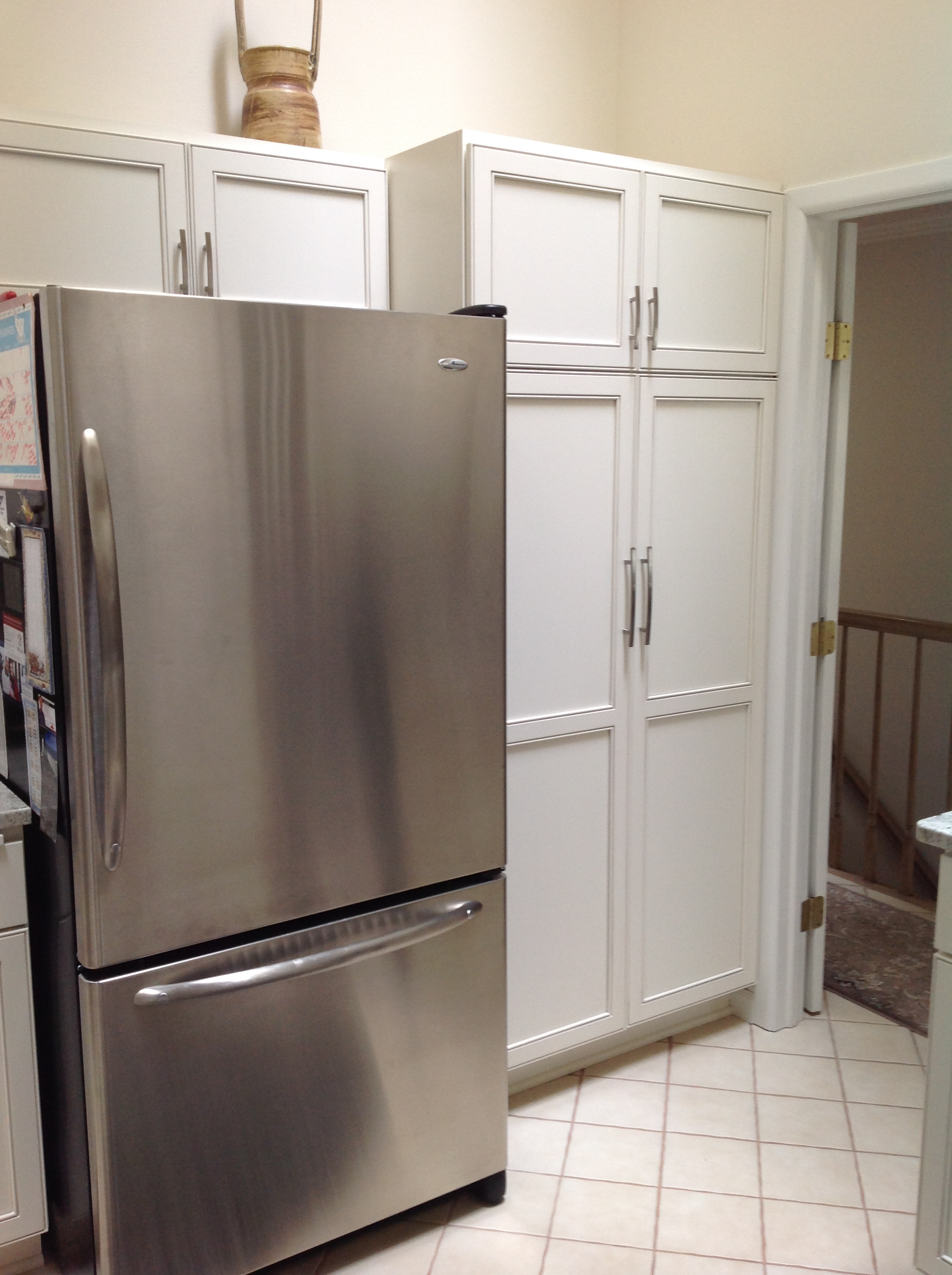 Refrig and pantry area